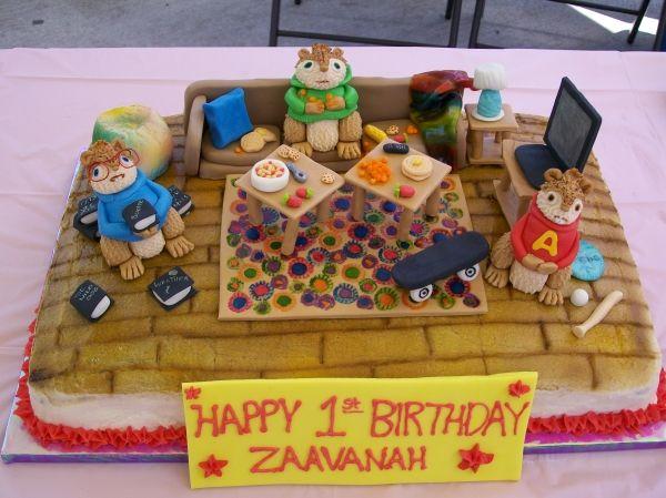 Alvin And The Chipmunks Birthday Cake: Children's Birthday Cakes