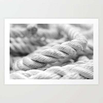 Seile Schwarz-Weiß-Makro