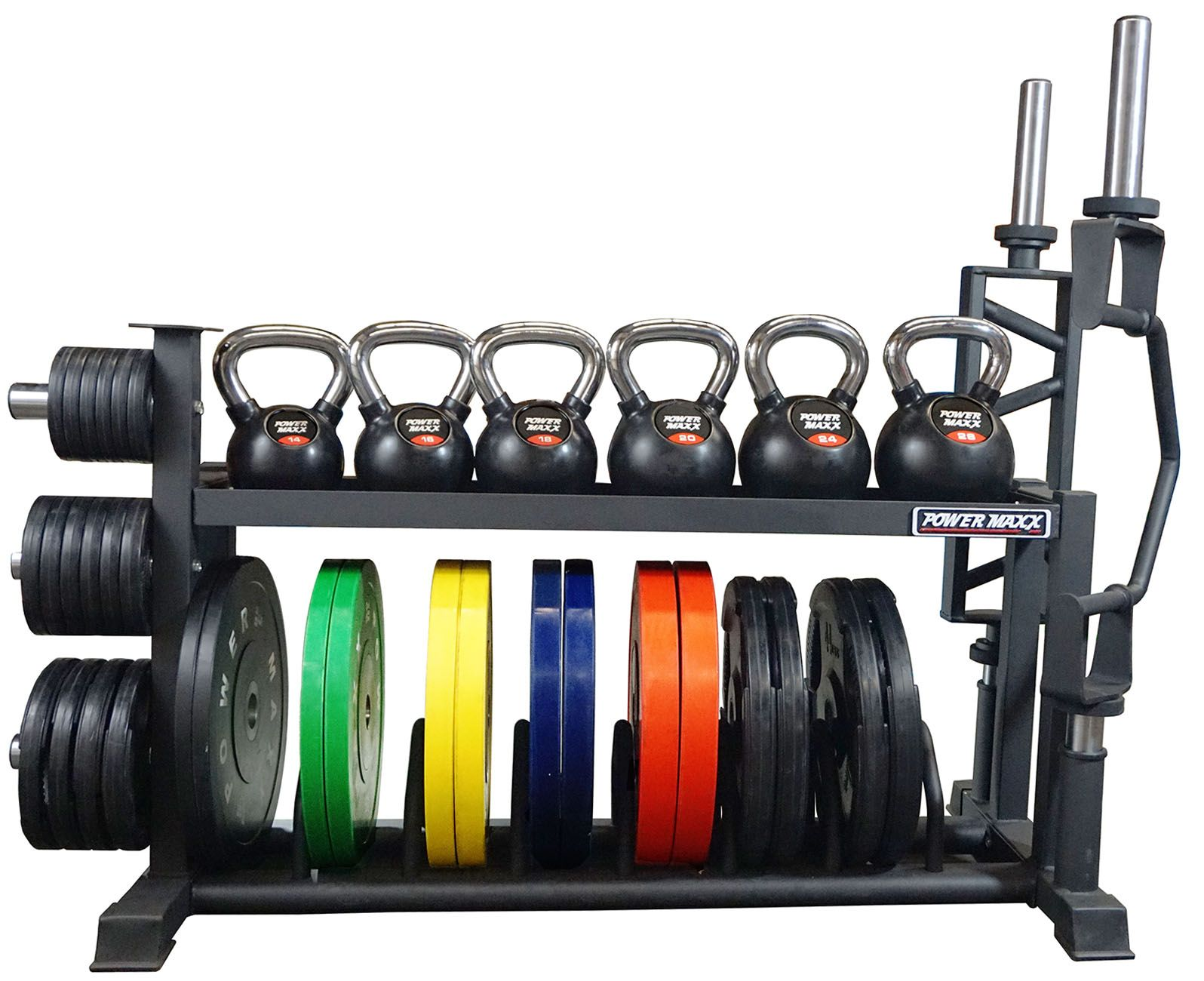 Power Maxx Bumper Barbell Rack In 2020 Kettlebell Rack Weight