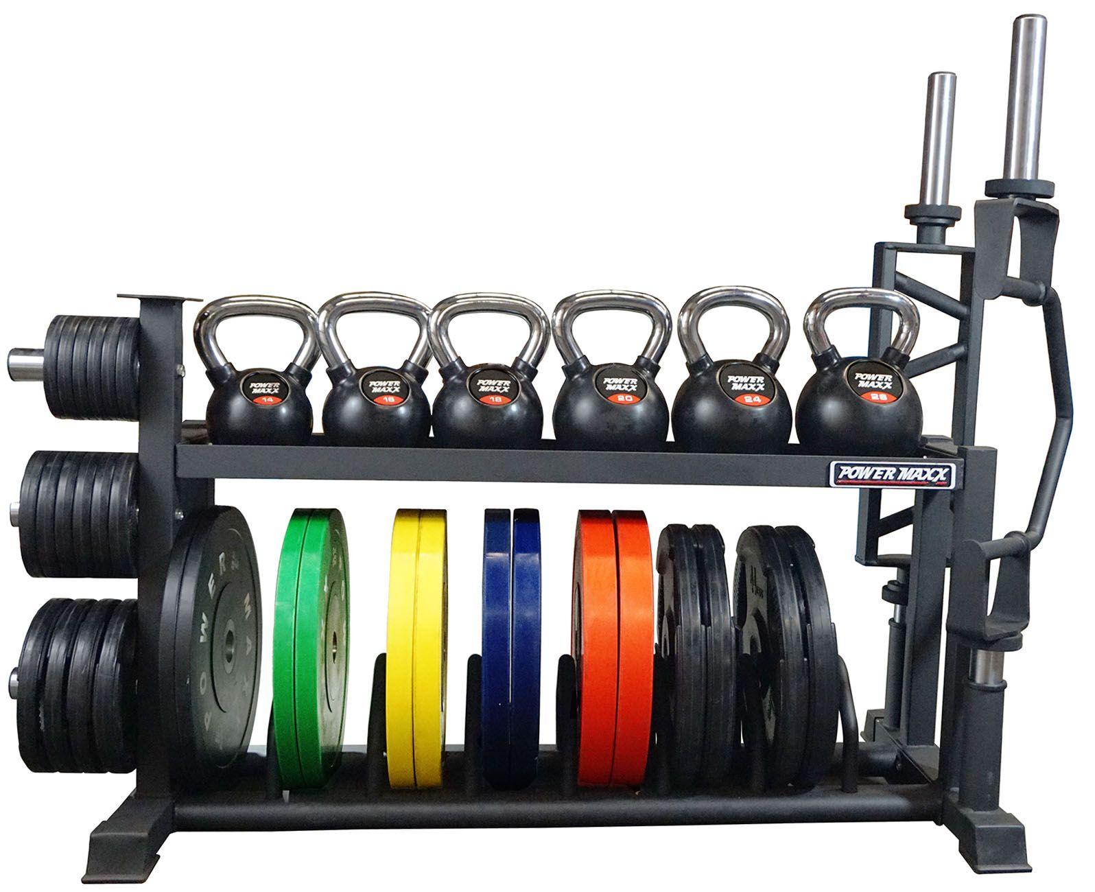 bumper barbell rack power maxx