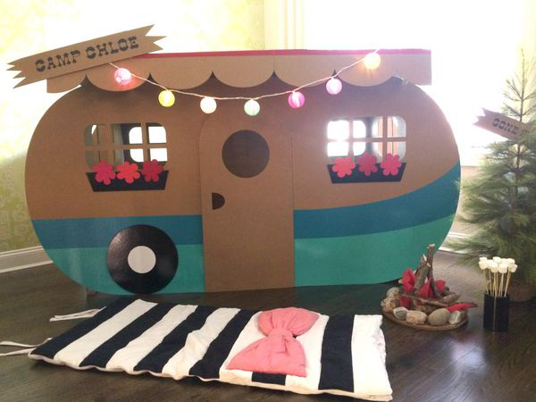 Have A Summer Birthday But The Weather Is Too Hot Try An Indoor Camping Party Fab Ideas