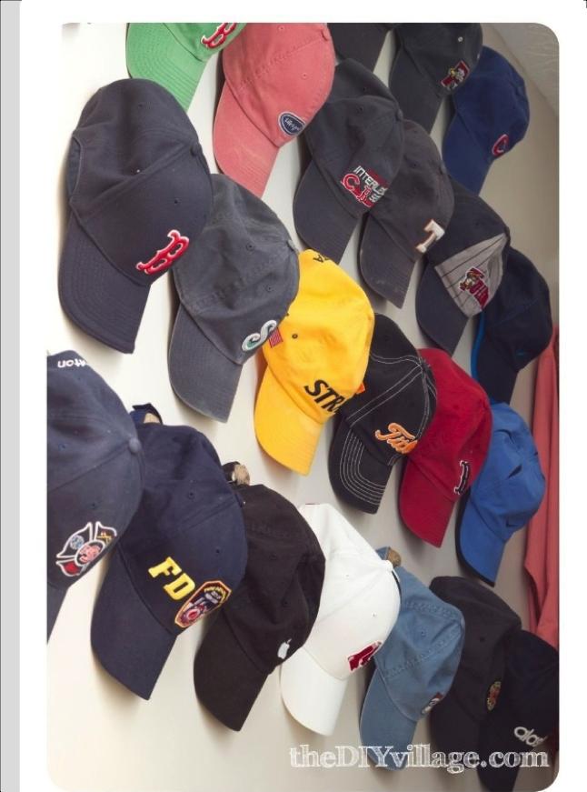Inspiration Hat Wall Hat Hooks Diy Hat Storage Hanging Hats