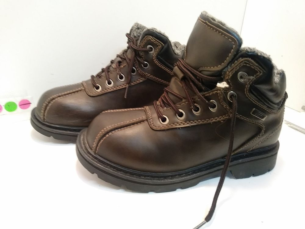lands end brown leather waterproof insulated shoe men s on men s insulated coveralls cheap id=49012