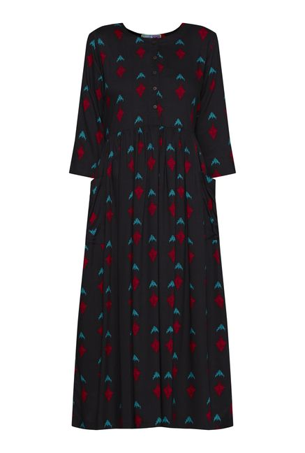 Bombay Paisley by Westside Black Printed Dress
