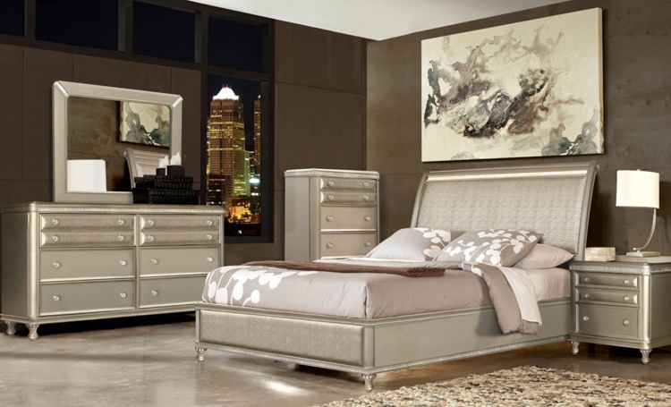 7 Piece Glam Queen Bedroom Collection Bedroom Collection Bedroom Sets Bedroom Furniture Sets