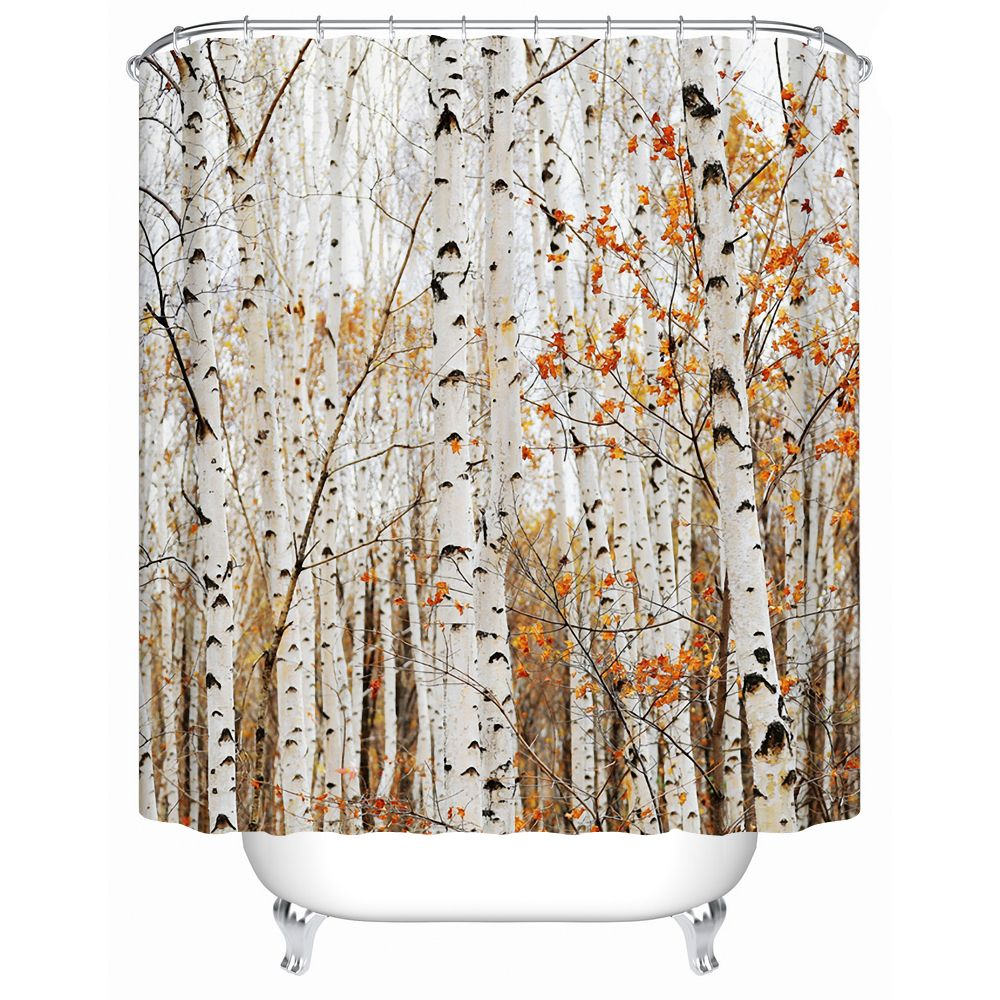 shower curtain shower environmentally friendly. 2016 New Forest Trees Eco-Friendly Waterproof Shower Curtains Bathroom Curtain Acceptable Custom Creative Y-210 Environmentally Friendly L