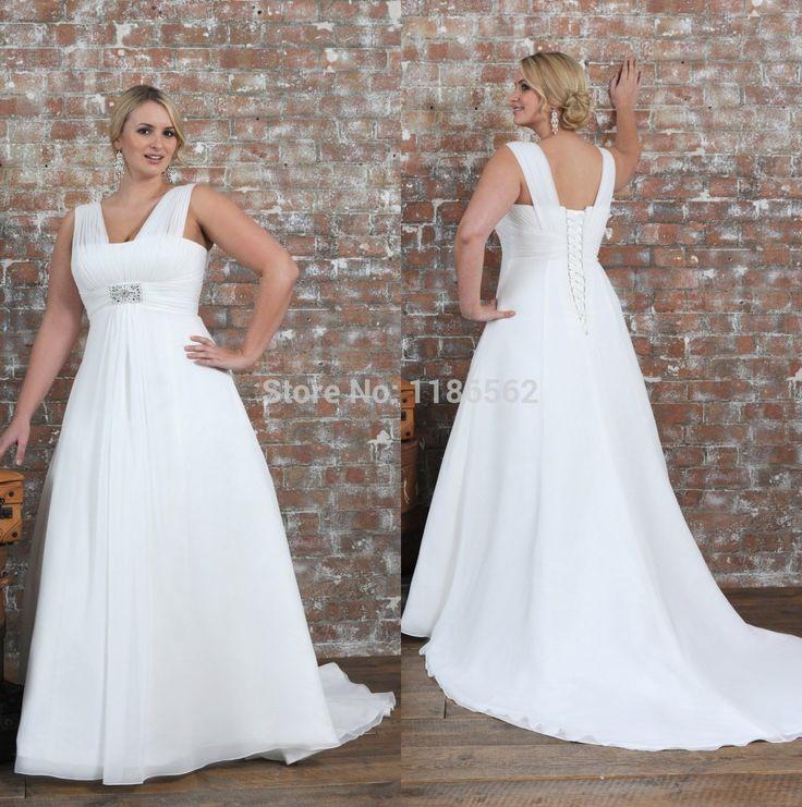 Plus Size Empire Waist Wedding Dress: White Empire Waist Dress Plus Size