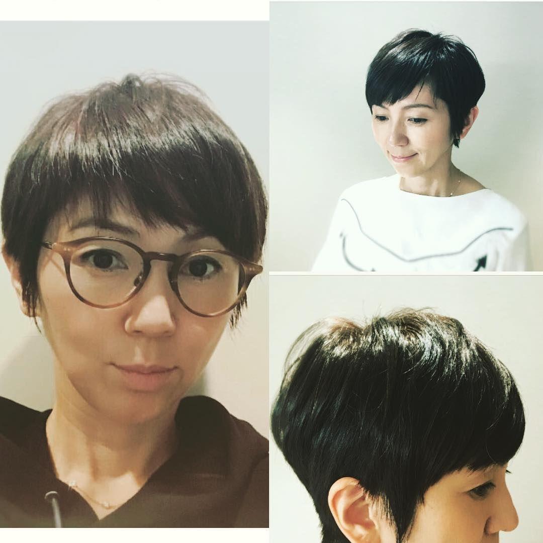渡辺満里奈さんがヘアカット後にヘアカタログの撮影を いつも