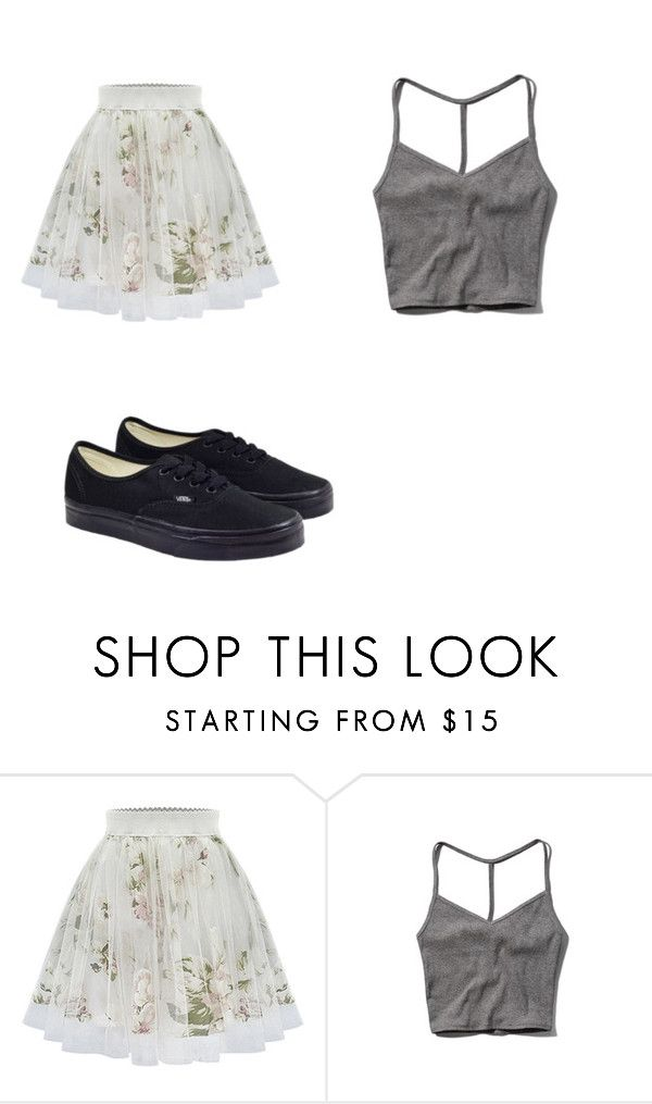 """Cute skirts and cropped shirts"" by hannahlou02 on Polyvore featuring Abercrombie & Fitch and Vans"
