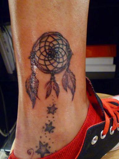 nouveau pas cher esthétique de luxe design professionnel Tattoo attrape rêve sur la cheville | tatouage | Capteurs de ...