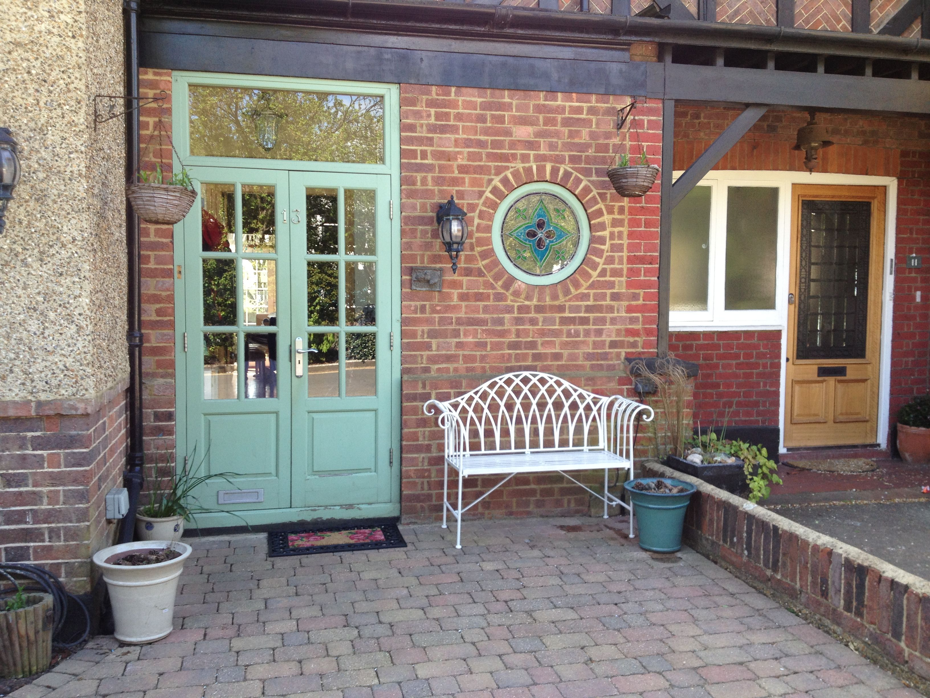 Entrance doors to porch semi-detached house North London suburb of Finchley Church End UK. | Terrazas u0026 Patios | Pinterest | Entrance doors ... & Entrance doors to porch semi-detached house North London suburb of ...