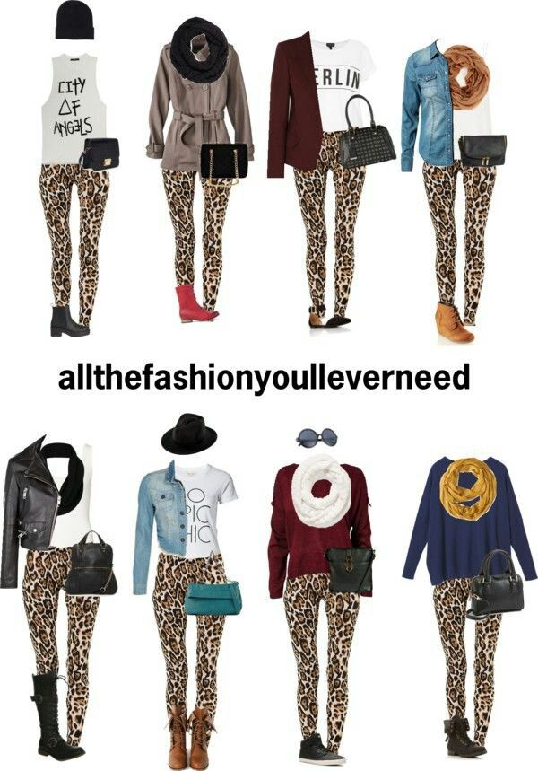 Cheetah legging outfits in 2019