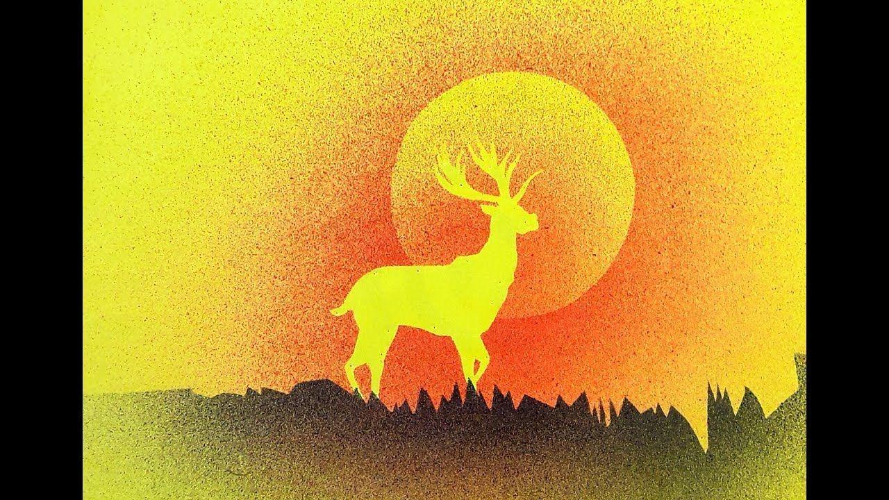 Incredible Tooth Brush Spray Painting Deer Part 2 Diy Youtube Spray Paint Artwork Fabric Painting Painting