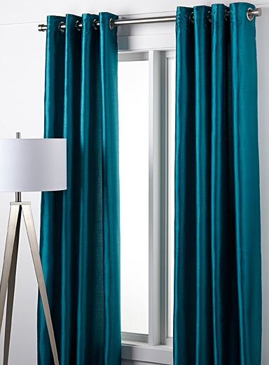 abstract calligraphy curtain 140 x 220 cm | turquoise curtains