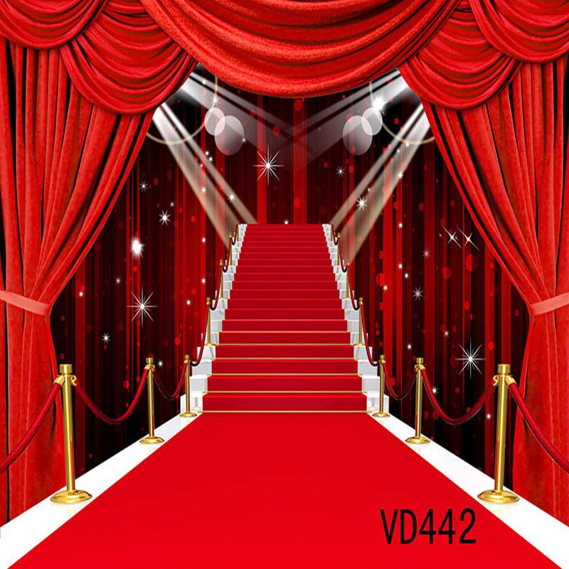 10x10ft Red Carpet Stage Vinyl Backdrop Photography Props Photo Background Vd442 Cameras Photo Backdrops Backgrounds Red Carpet Background Vinyl Backdrops