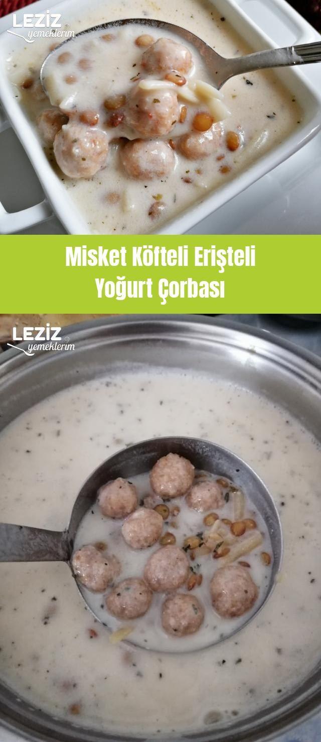 Misket Köfteli Erişteli Yoğurt Çorbası – Leziz Yemeklerim – Çorba Tarifleri
