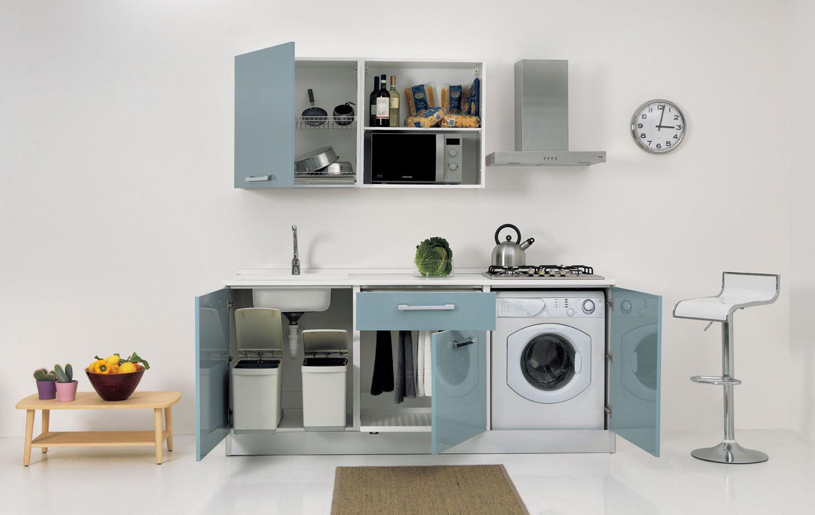 Cucine piccole: composizioni compatte anche per il soggiorno ...