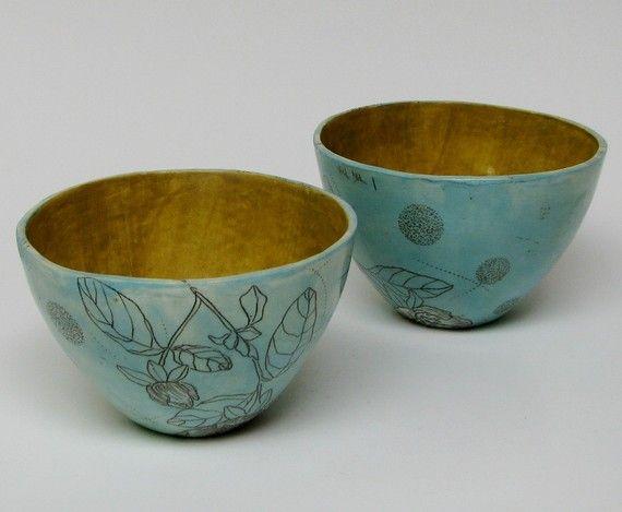 Turquoise Blue Quince Flower Ceramic Bowl By Diana Fayt Ceramic Bowls Ceramics Deco Accessories