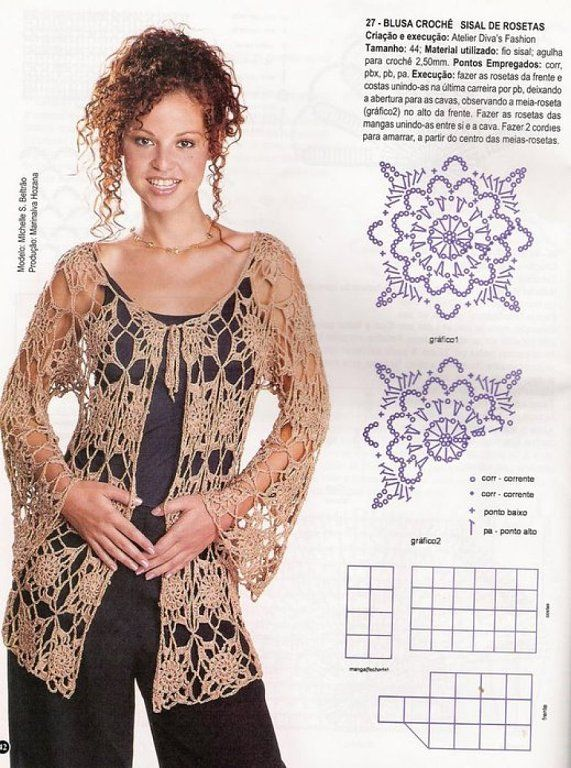 Blusas tejidas a crochet patrones gratis - Imagui | BLUSAS CROCHET ...