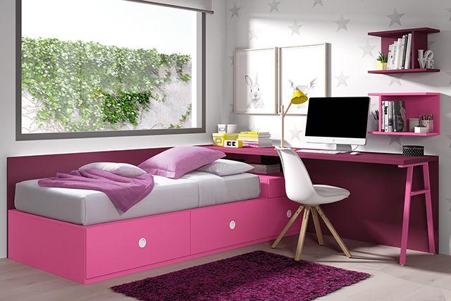 Cama bloc juvenil habitaciones juveniles a medida muebles for Muebles juveniles a medida
