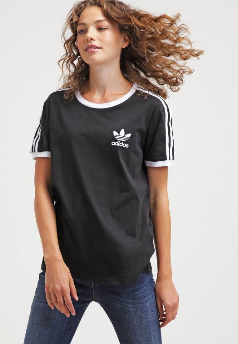 adidas Originals. Camiseta print - black. Largo de la prenda 68 cm (talla  36). Modelo 2c4c6f187b864