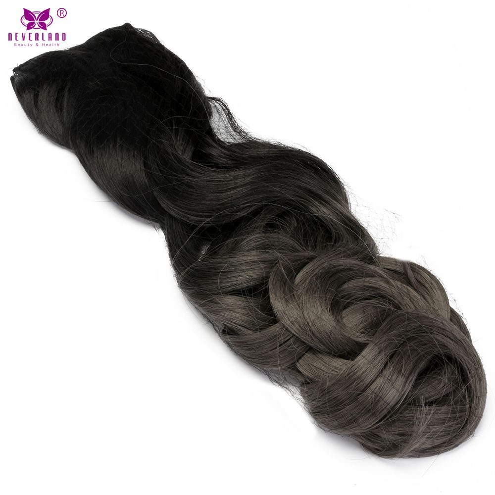 Neverland 24 Long Ombre Curly Wavy Clip In Hair Extension Fake Hair
