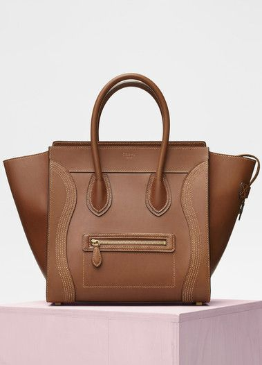 Mini Luggage Bag in Natural Calfskin - Céline  4522b631b4889