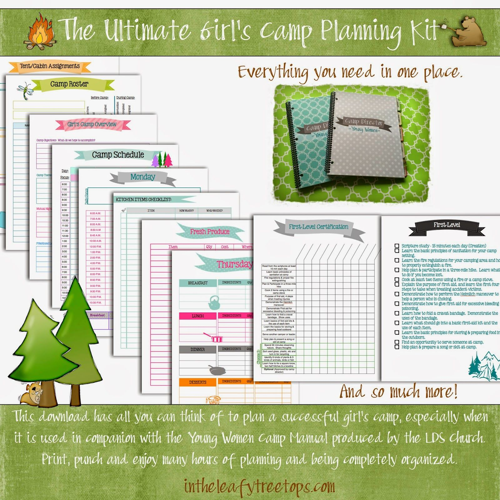 Ultimate Girls Camp Planning Kit Camping planning, Girls