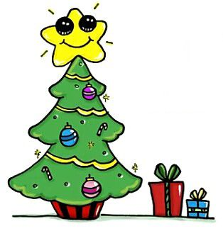 Christmas Tree Cute Kawaii Drawings Kawaii Doodles Cute Little Drawings