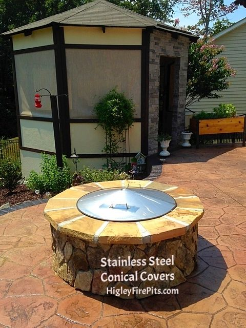 Stainless Steel Fire Pit Covers I make 3 sizes plus custom size No Rust  Stainless Steel - Pin By Higley Metals On Custom Stainless Steel Fire Pit Spark