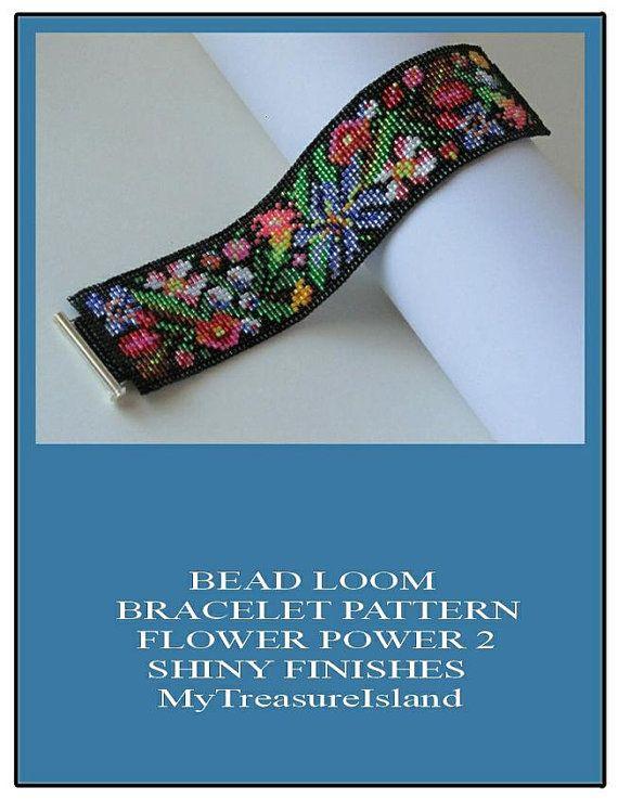 Bead Loom Bracelet Flower Power 2 Folk Art Flowers Fashion Je ...