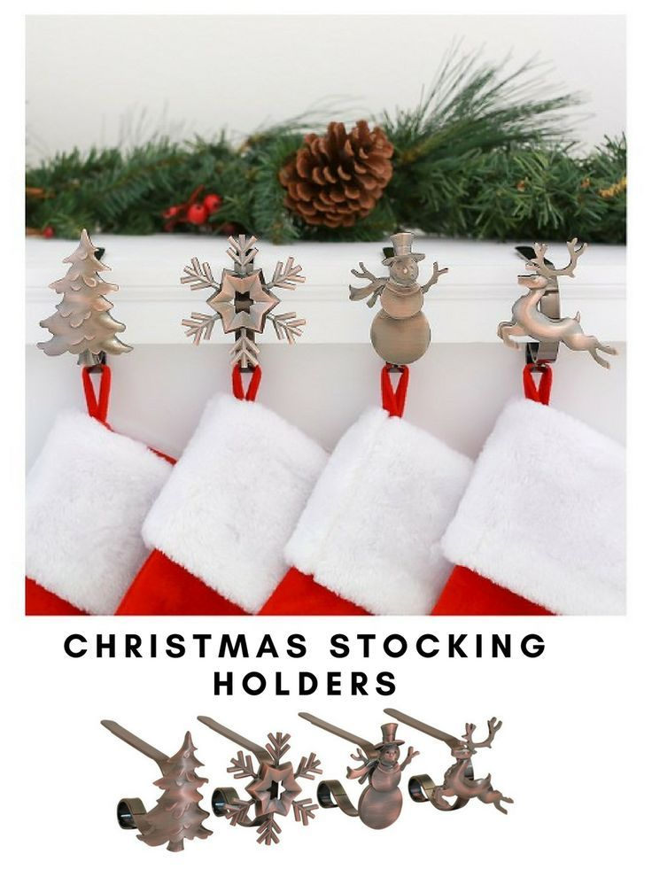 Simply beautiful Christmas stocking holders for your mantle #ad