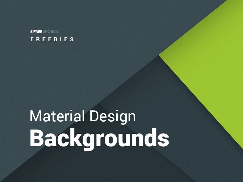 5 Free Material Design Backgrounds
