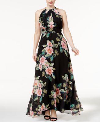 INC International Concepts Plus Size Floral-Print Maxi Dress, Only ...