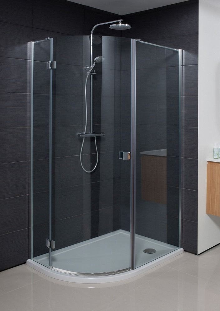 Simpsons Design Douchecabine Kwartrond 120x90x195cm 1 Draaideur Zilver Profiel Helder Glas Bathroom Renovation Quadrant Shower Shower Cubicles Quadrant S