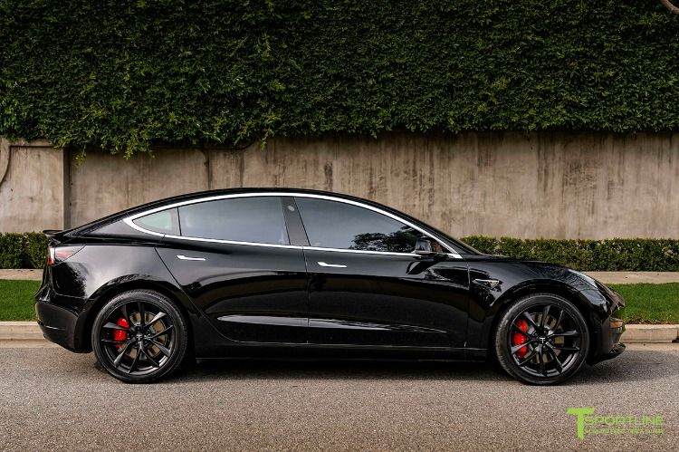Tesla Model 3 19 Forged Wheels Matte Black Performance Wheels