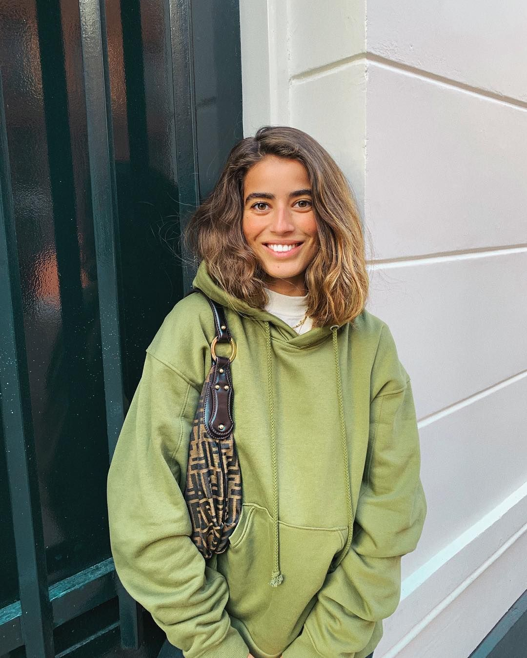 "Bruna 🐻🇱🇧 on Instagram: ""happy with my vintage fendi 🤗 #fendi #vintagefendi #weekday #hoodie #amsterdam #saturday #weekend"""