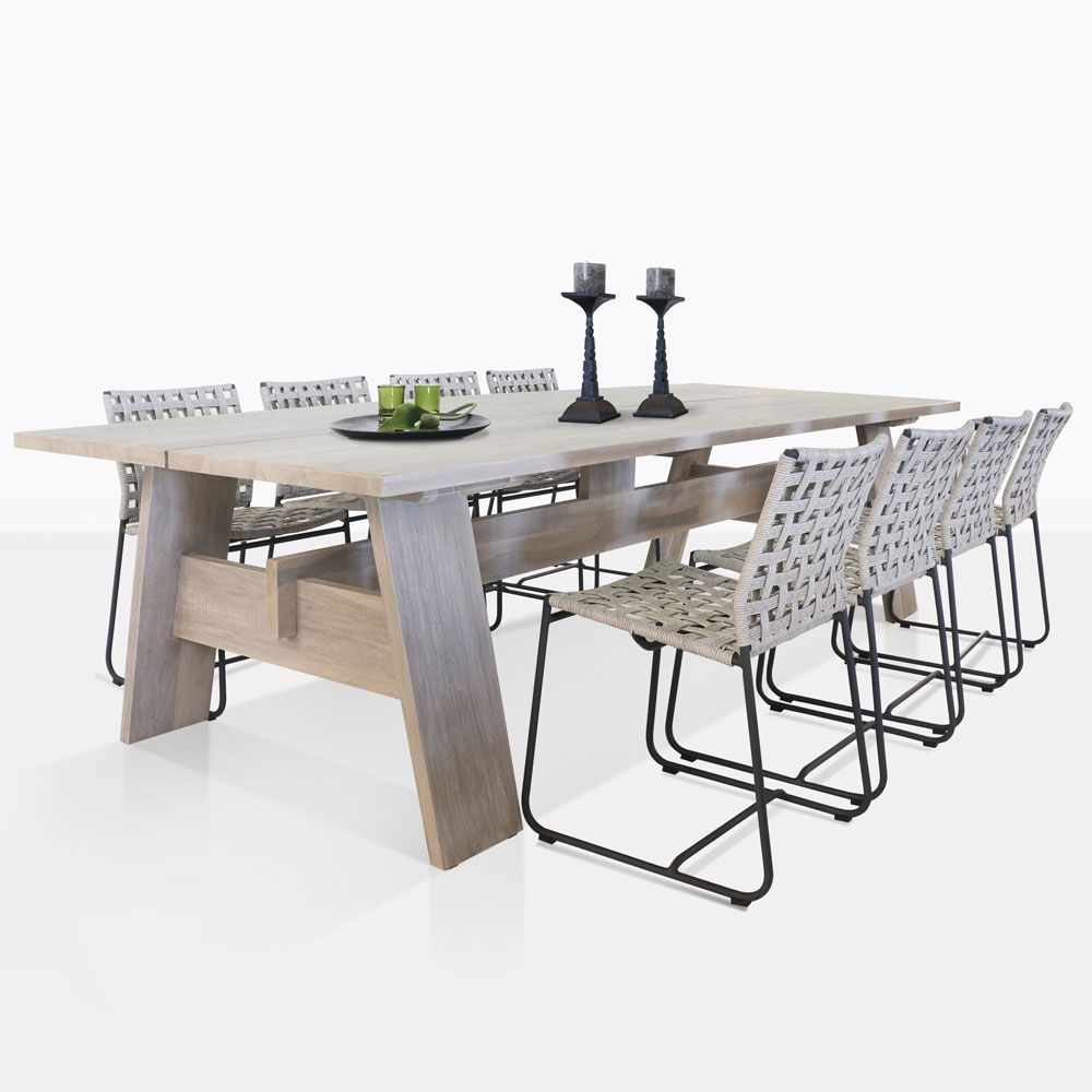 Our Teak Bradford Dining Table And Mayo Wicker Dining Chairs Will