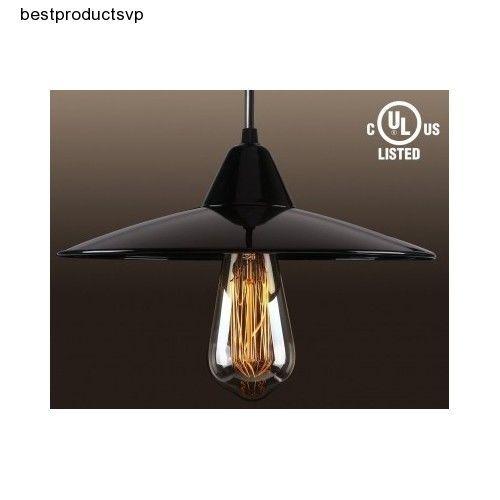 #Ebay #Industrial #Pendant #Light #Fixture #Antique #Black #Metal #Vintage #Ceiling #Hanging #New #TORCHSTAR #Traditional