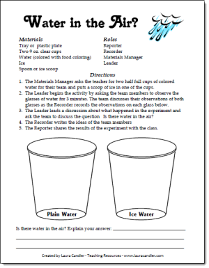 Love this easy Water in the Air Experiment to help kids understand ...