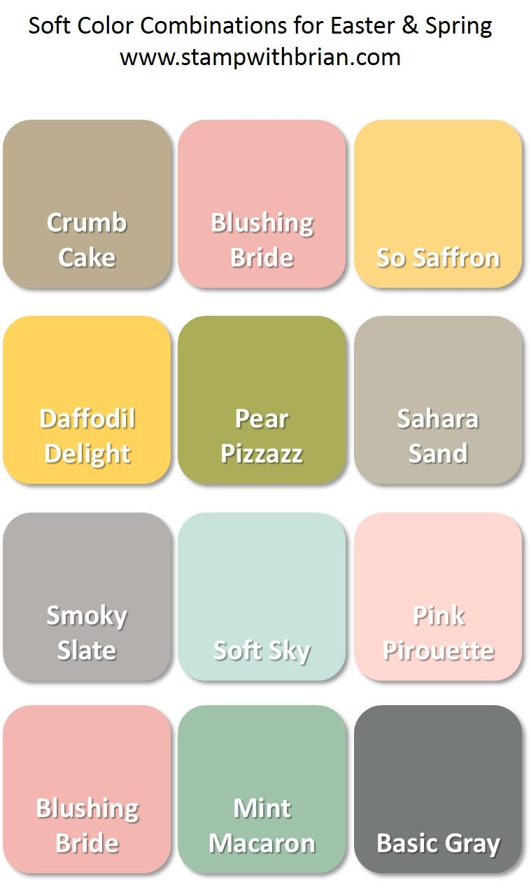 Color Combo Inspiration Wood Interiors With Grey Accents: Color Inspiration For Easter And Spring (Stamp With Brian