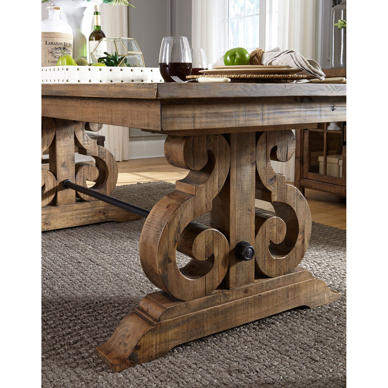 Magnussen Home Willoughby Rectangular Dining Table In Weathered