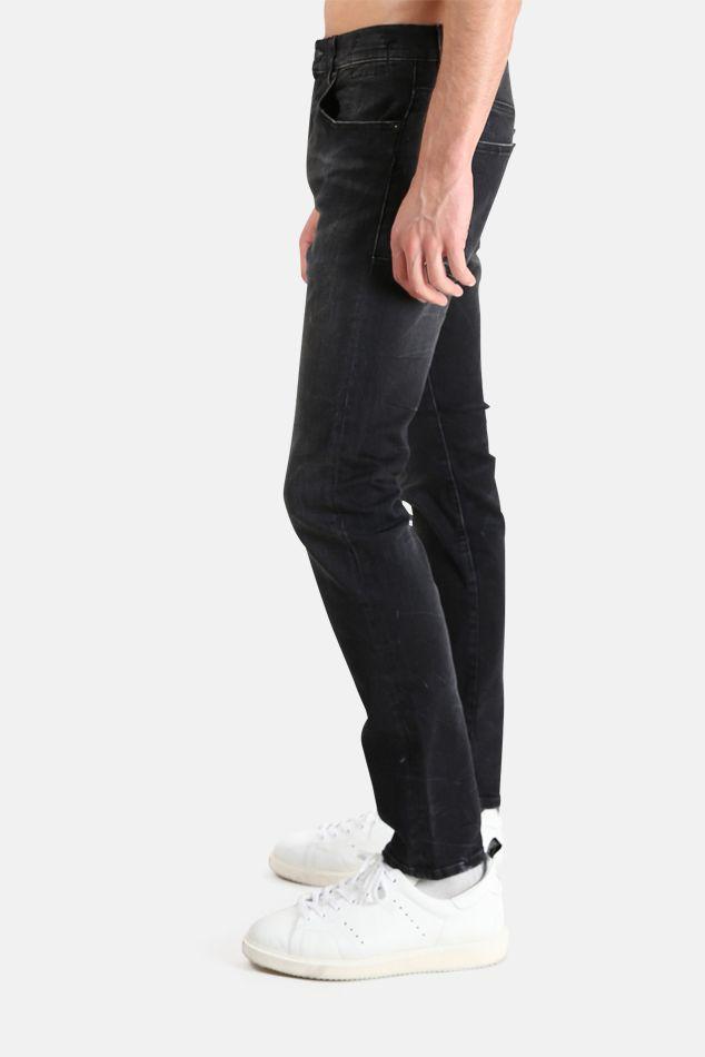 Herren R13 Skate Jeans aus schwarzem Marmor, Größe 28