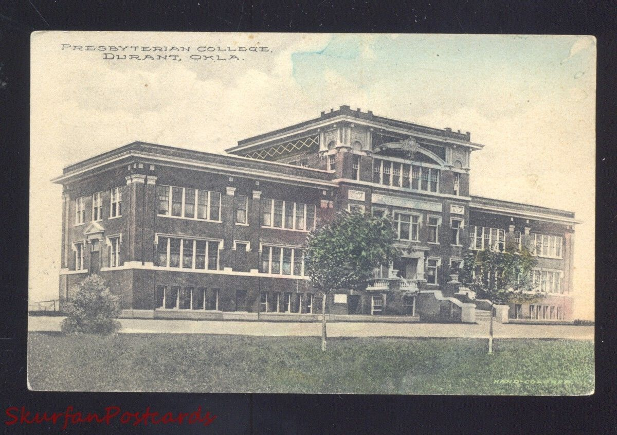 durant oklahoma presbyterian college antique vintage postcard enid durant oklahoma presbyterian college antique vintage postcard enid okla