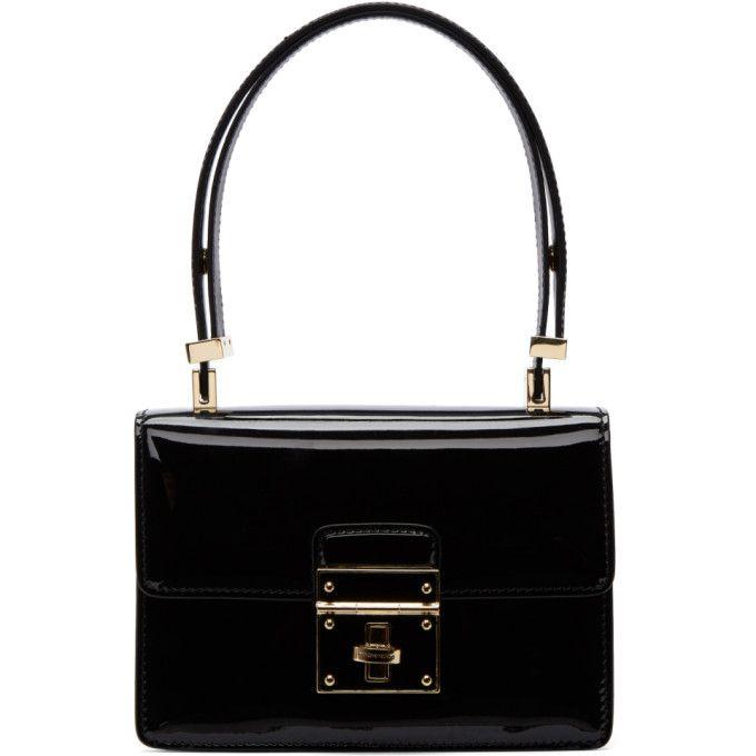 bef55820e0 DOLCE   GABBANA Black Mini Flap Lock Bag.  dolcegabbana  bags  patent  hand  bags