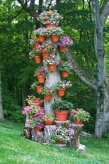 Σπίτι και κήπος διακόσμηση:  Πρωτότυπες Ιδέες για ανακύκλωση κορμών δέντρου για τον κήπο