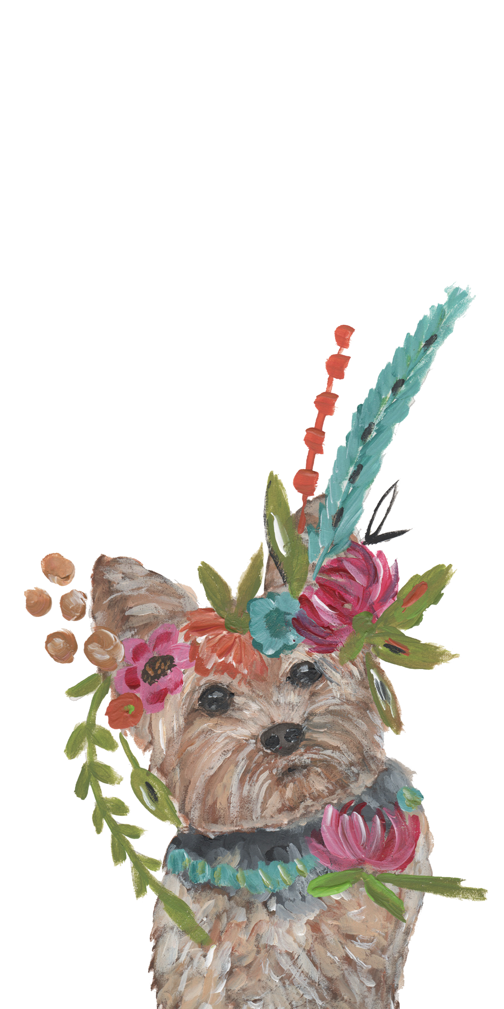 Dogs Floral Crown. Casetify iPhone Art Design