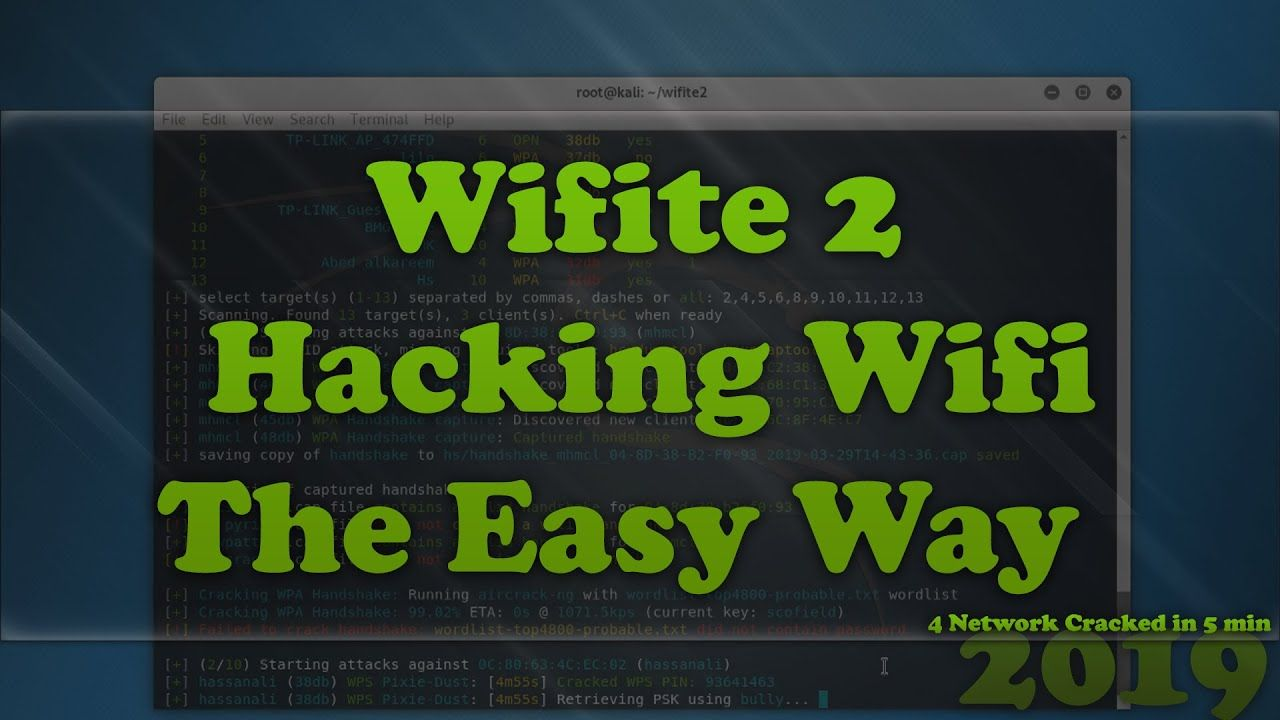 Wifite is an automated wireless attack tool  | YouTube in
