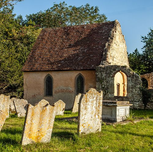 The Ruined 13th Century Parish Church Of Greatham In