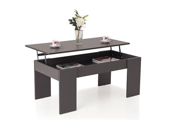 Rue Du Commerce Table Basse Relevable Down Gris Down01ft126 Coffee Table Home Decor Decor